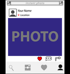 website clean template vector image
