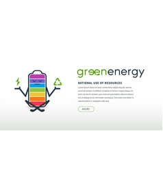 Website interface concept ecology and green energy vector