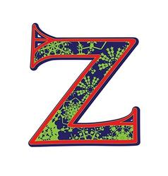 Winter letter Z vector
