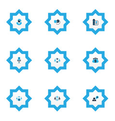 Work icons colored set with problem solving vector