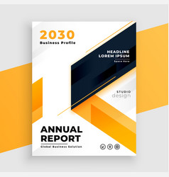 yellow business flyer annual report template vector image