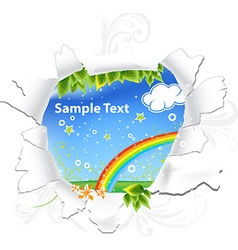 Abstract Summer Design with Ripped Paper vector image vector image