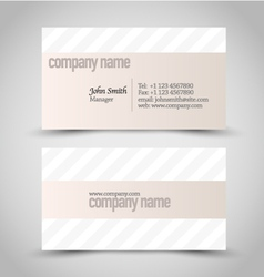 Business card set template beige and white color vector