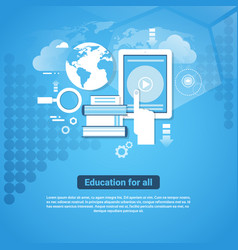 education for all template web banner with copy vector image vector image