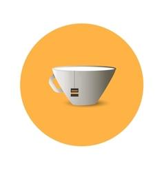 Flat cup of tea vector image