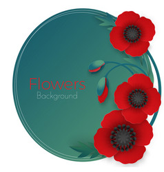 flowers background with full blown and still vector image vector image