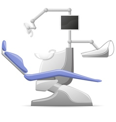 medical dental arm-chair vector image