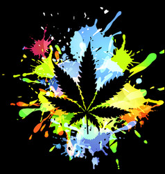 medical marijuana ink blots vector image