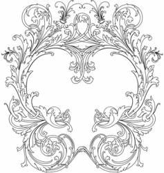 Royal ornate frame vector