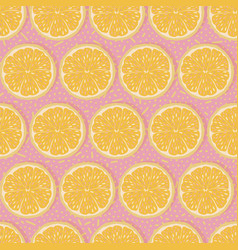 seamless oranges background vector image vector image