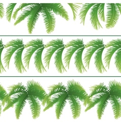 Seamless patterns palm leaves vector image vector image
