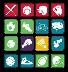 sport icon basic style vector image vector image