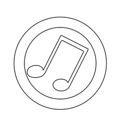 figure symbol music sign icon vector image vector image