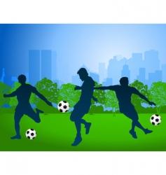 football vector image