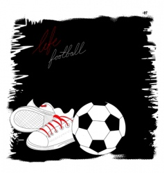 life with football vector image vector image