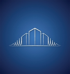 Architect logo over blue vector image vector image