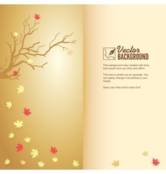 Autumn leaf fall colorful background vector