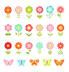 funny butterfly on flowers in garden vector image vector image