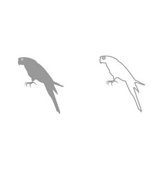 parrot it is black icon vector image vector image