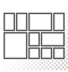 Picture photo frames set vector image vector image