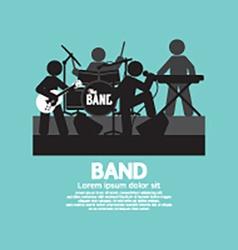 Band Of Musician Black Symbol vector image