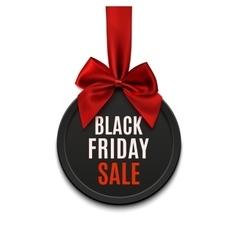 Black Friday sale round banner vector image
