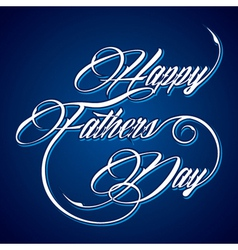 Creative Happy Fathers Day greeting vector image