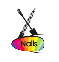 Design for manicure and pedicure of nails vector