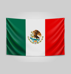 hanging flag of mexico united mexican states vector image