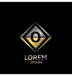 Letter O logo vector image