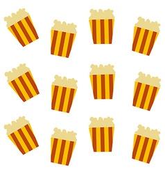 pop corn pattern vector image