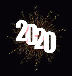 2020 happy new year background christmas vector image