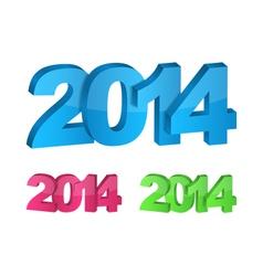 3D 2014 Year vector