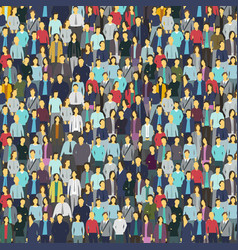 A lot of people colorful texture background from vector