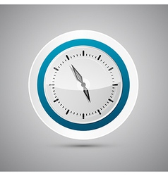 Abstract 3d Paper Blue and White Clock vector image