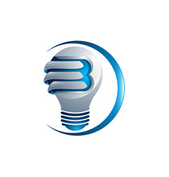 Abstract light bulb logo design made of color vector