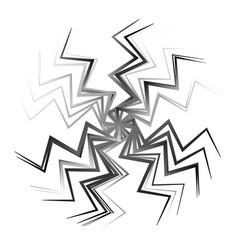 Abstract radial op-art element abstract shape on vector