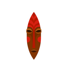 ancient ritual mask made of wood and painted with vector image