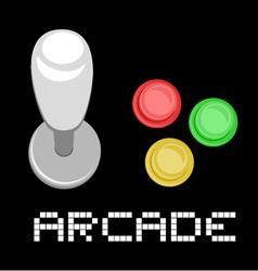 Arcade control vector image