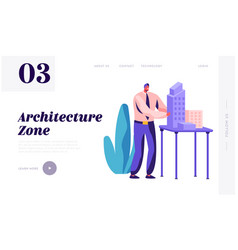 architect engineer create building project office vector image