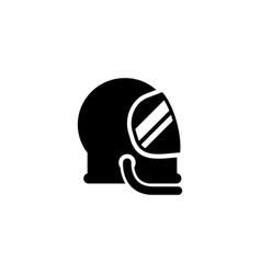 Astronaut helmet and protective gear glyph icon vector