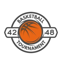 basketball template logo badge emblem vector image