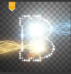 bitcoin digital money concept design of vector image