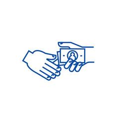 Bribegratuitypension line icon concept bribe vector