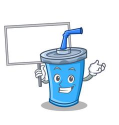 Bring board soda drink character cartoon vector