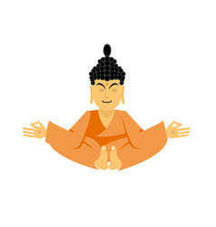 Buddha lotus pose yoga isolated zen and vector