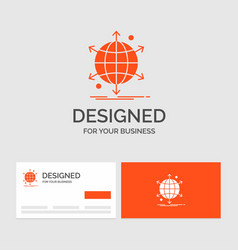 business logo template for business international vector image