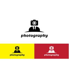 Cameraman logo vector