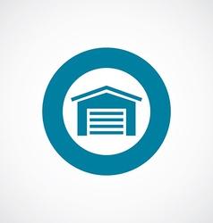 car garage icon bold blue circle border vector image