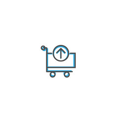 cart icon line design business icon vector image